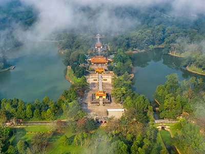 Minh Mang tomb from above