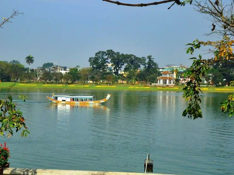 Boat in the Huong river - Hue